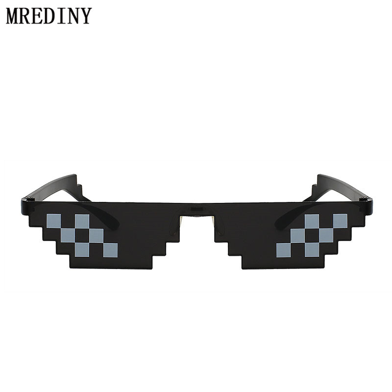 Deal With It Sunglasses Men New Minecraft Polygonal Lol Thug Life Shades Masculine 5 Style Pixel Be Yourself Glasses Apparel Accessories Men's Sunglasses