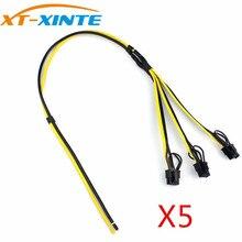 XT-Xinte 5 шт. Мощность карты линии 1 до 3 6 + 2 P Кабель-адаптер основной линии 12awg sub линии 18awg