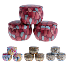 12 Pack DIY Candle Pretty Tin Jars, Empty Reusable Tin Cups for Tea, Candy, Dry Storage, Spices, Camping, Party Favors Gifts