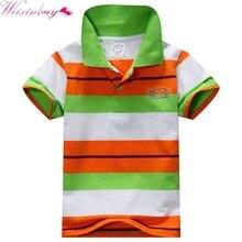 New Baby Boys Kid Tops T Shirt Summer Short Sleeve T Shirt Striped Polo Shirt Tops
