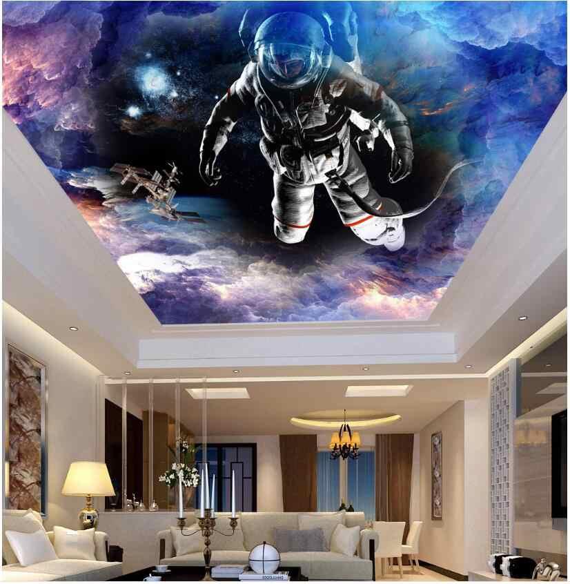 Wdbh Ozel 3d Tavan Duvar Resimleri Duvar Kagidi Uzay Yildiz Uzay