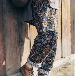 Libre Casuales Cáñamo Algodón Nuevas Color Impresión Envío Pantalones S79 2016 Mujeres De Photo AUCxdC1wq