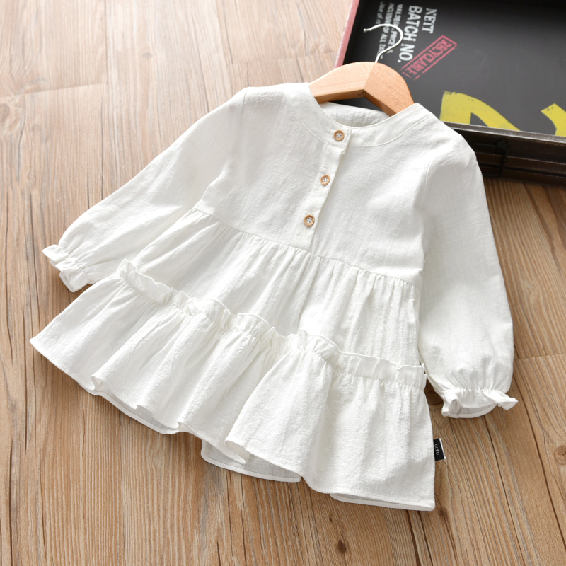 VIDMID new girls long sleeves dresses kids cotton clothes spring autumn dresses baby girls clothing children's dresses 7071 04 2