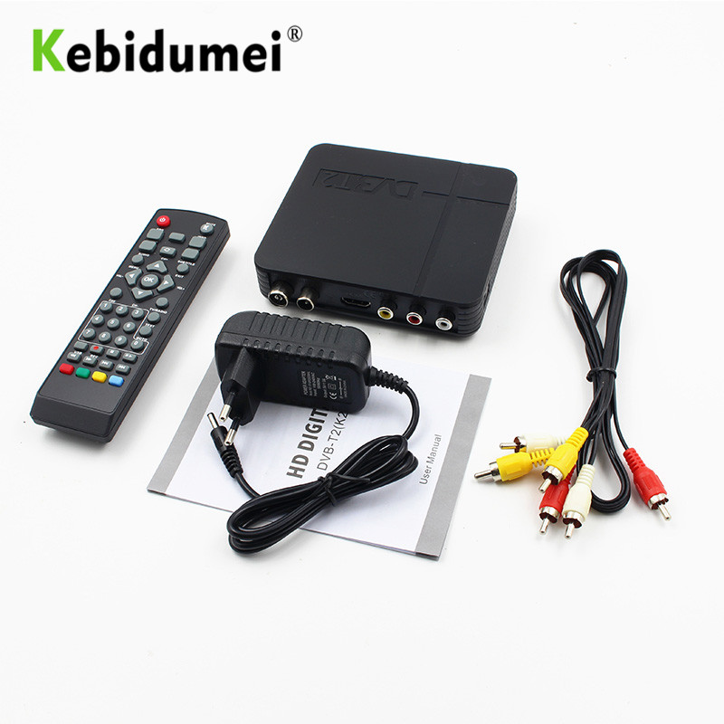 Kebidumei DVB-T2 terrestrial digital Satellite TV signal receiver Decoder  TV Box HD 1080P PVR dvb t2 Mini Set Top Box Wholesales