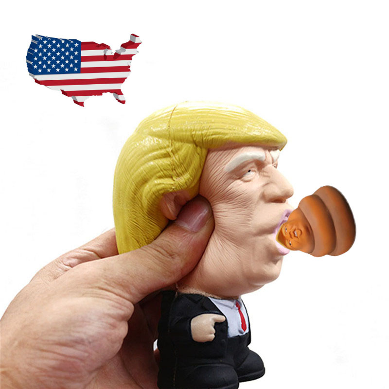 Funny Gift Donald Trump Stress Squeeze Ball Jumbo Squishy <font><b>Toy</b></font> <font><b>Cool</b></font> Novelty Pressure Relief <font><b>Kids</b></font> Doll Squeeze Fun Joke Props image