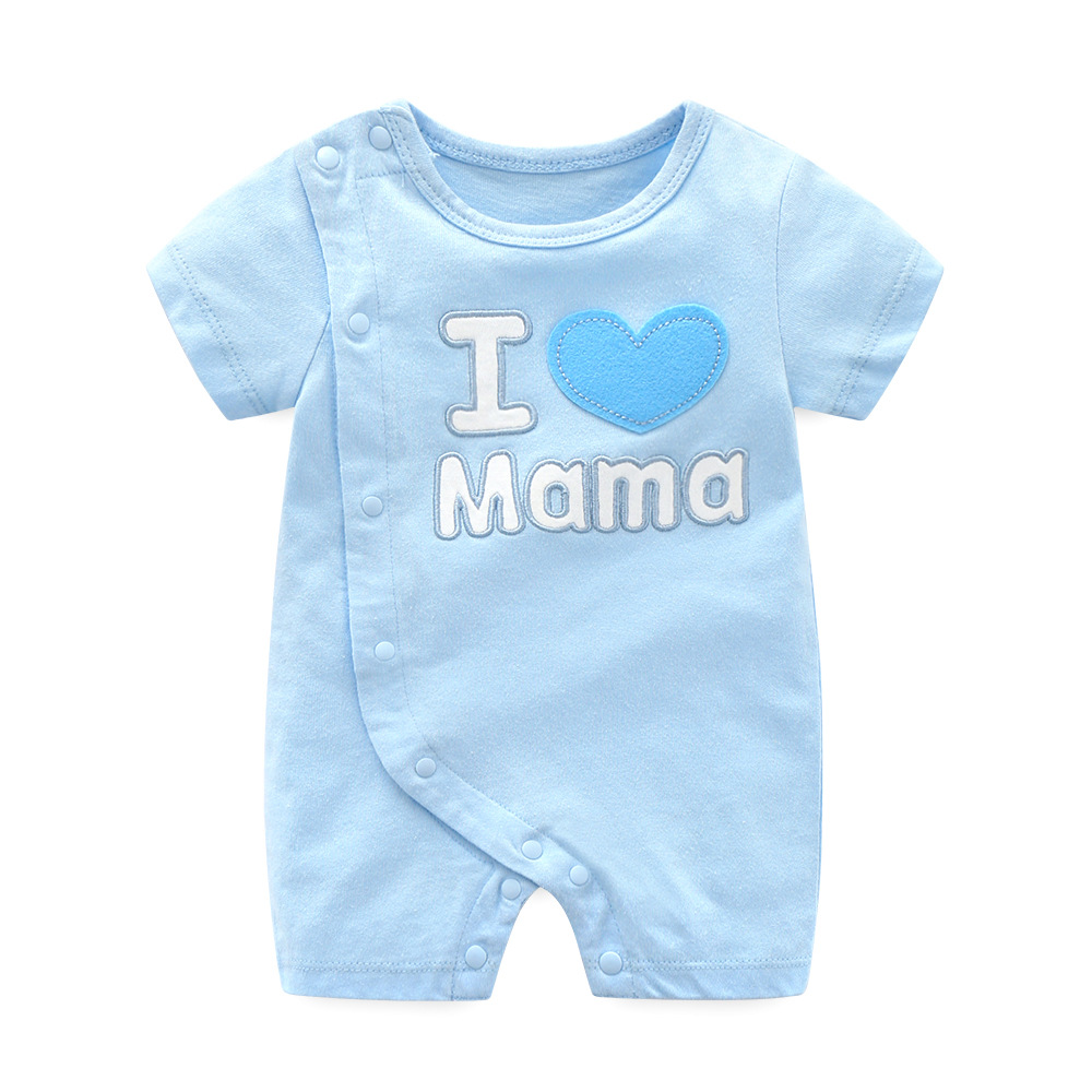 Orangemom official store high quality summer baby   rompers   i love papa mama newborn clothes for baby boy girl infant clothing