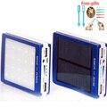 Al aire libre luces LED 15000 mah Cargador de Batería Solar 15000 mAh Panel Solar de Carga Dual Puertos banco de energía portátil para el Teléfono Móvil