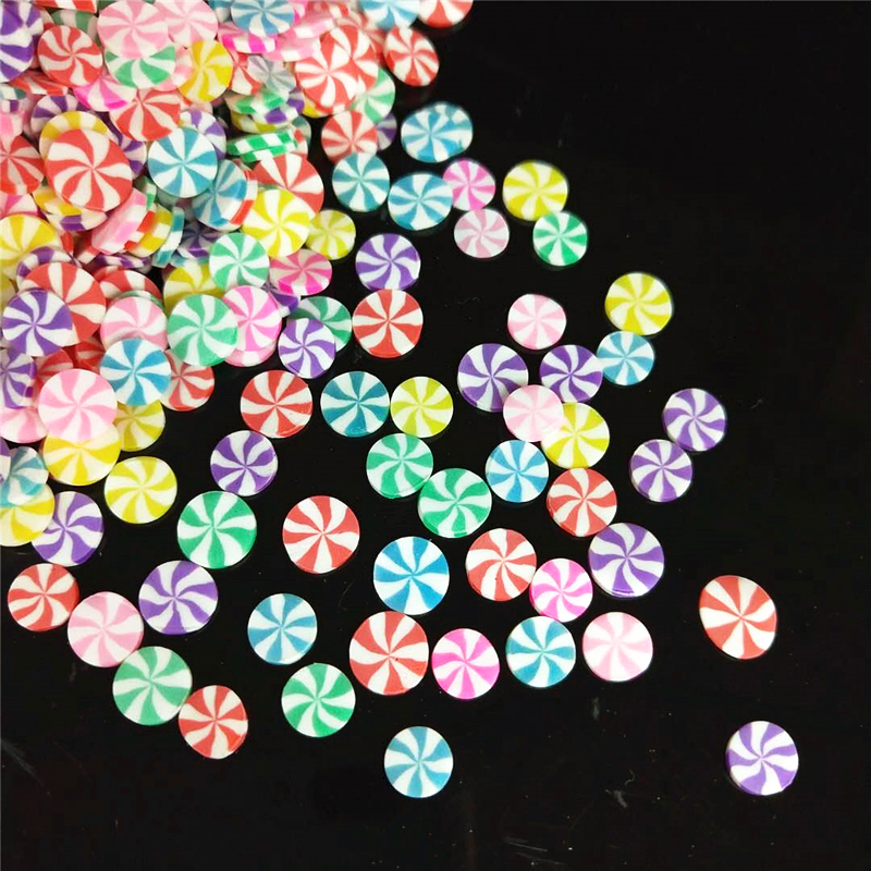 20g/lot Lollipop Polymer Hot Soft Clay Sprinkles Colorful For DIY Crafts Tiny Cute Bonbon Candy Plastic Klei Mud Particles
