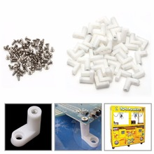 40Pcs/Set L Type PCB Mounting Feet with Screw for Arcade JAMMA MAME Game Board Drop Shipping