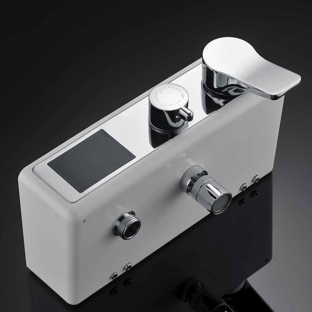 1SET Digital Temperature Display Bath Shower Faucets Set Bathroom Mixer Shower Bathtub Tap Rainfall Shower Wall Tap 877016