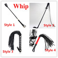 PU Leather Spanking Flogger Whip For Couple Sex Toys ,Sexy Paddle Whip Fetish Bondage Cosplay Flirting Toys ,4 Styles For Choose