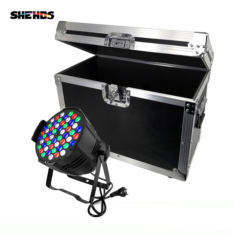 Flight Case With 2/4/6/8 Pieces Aluminum Alloy LED Can Par 54x3W Lighting Professional DMX512 LED Light For DJ Disco KTV Party