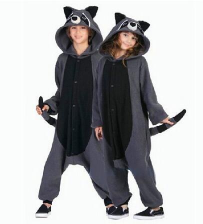 Одна деталь Аниме животных Серый Енот Косплэй Пижама для взрослых Карнавальные  костюмы на Хэллоуин Onesie флиса комбинезон NL1541 купить на AliExpress dca6ec705de91