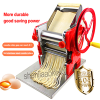 New Household Manual Noodles Machine Stainless Steel Pasta Machine Pasta Maker Machine Commercial Use 18cm Noodle Roller Width