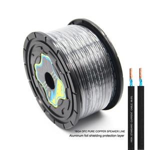 PUZU-câble de 50M pour la voiture | En cuivre pur OFC, ligne de signal, câble pour la voiture, système de haut-parleurs stéréo