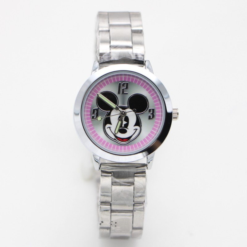 2019 New Cartoon Minnie Kids Watch Girls Stainless Steel Fashion Ladies Women Watches Relojes Montres Kol Saati