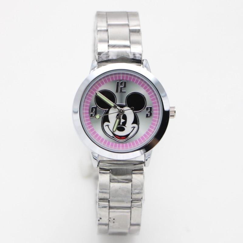 2019 New Cartoon Minnie Kids Watch Girls Stainless Steel Fashion Ladies Women Watches Relojes Montres Kol Saati