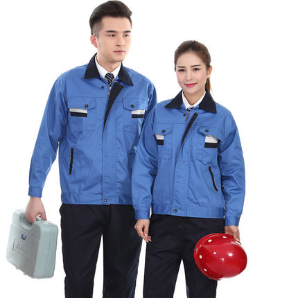 Work wear set long sleeve factory working clothes worker uniform repair service uniform