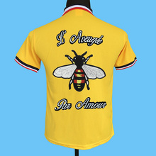 fcfd9c75a Seestern brand new men polo shirts knitted coloring collar behind Applique  embroidery, blind love bee
