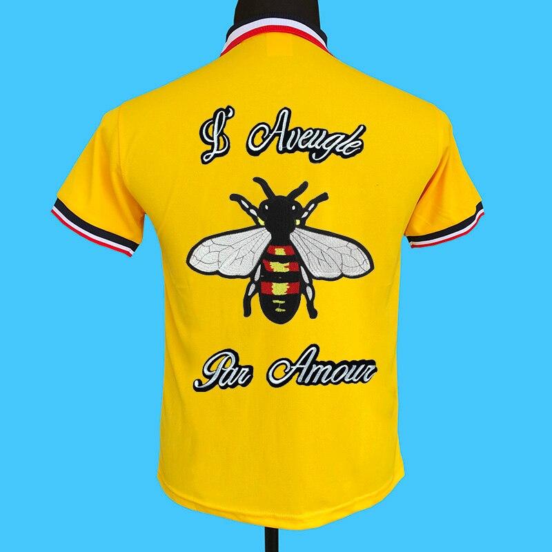 Seestern marque nouveau hommes polo chemises tricoté coloration col derrière Applique broderie, amour aveugle abeille de mode mode tops