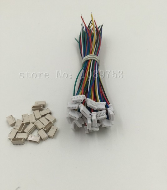 10 sets Micro JST 1.0mm 6-Pin Connector with Wire mini micro jst 2 0mm t 1 6 pin connector w wire x 10 sets 6pin 2 0mm