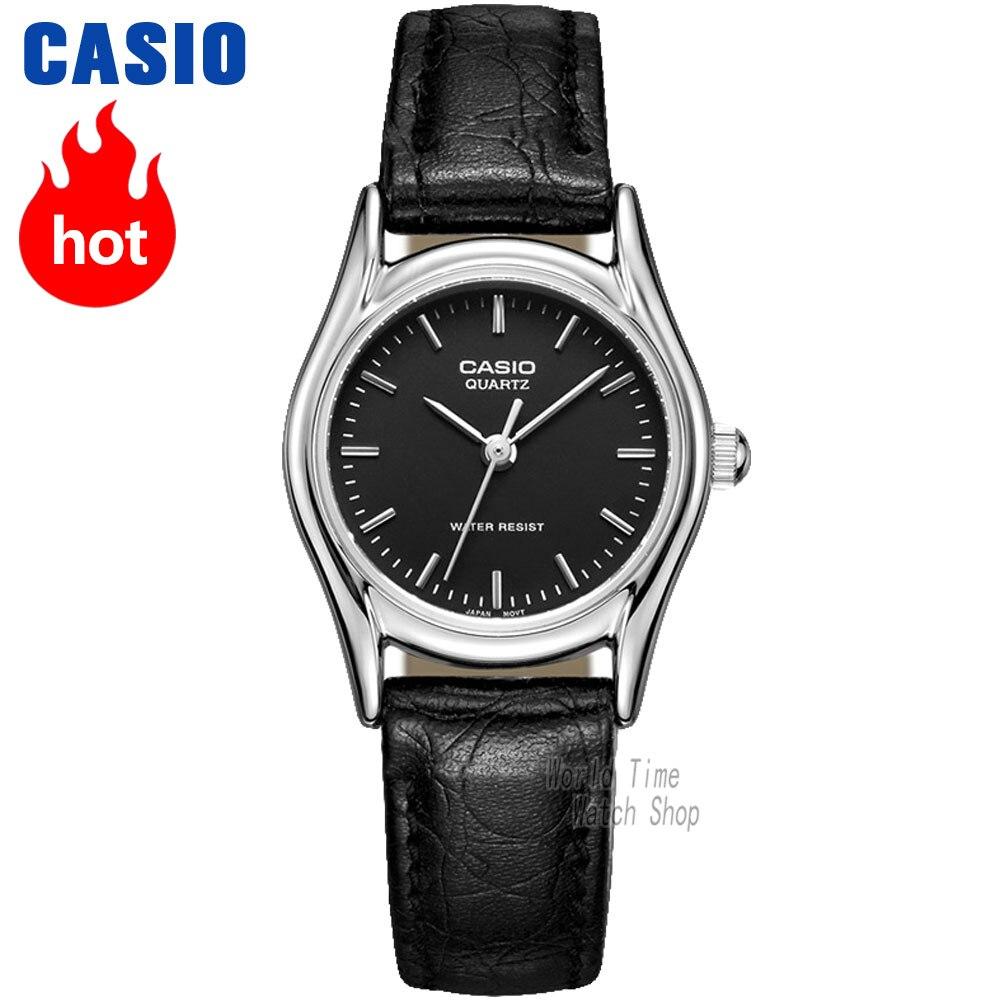 Casio montre analogique femme montre Quartz mode Simple étanche pointeur cuir bracelet montre LTP-1094E