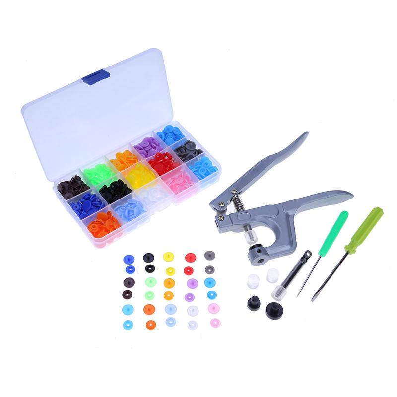 1Set Metal Press Pliers Tools Used for T3 T5 T8 Kam Button Fastener Snap Pliers+150 Set T5 Plastic Resin Press Stud Cloth Diaper1Set Metal Press Pliers Tools Used for T3 T5 T8 Kam Button Fastener Snap Pliers+150 Set T5 Plastic Resin Press Stud Cloth Diaper