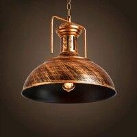Vintage Pendant LightsMetal Dining Room pendentes para sala de jantarRetro Lamp hanging lamps Bronze lampadario Iron 220V D31