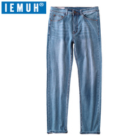 IEMUH 2018 Autumn And Winter New Men Warm Jeans High Quality Famous Brand Jeans Warm Cotton