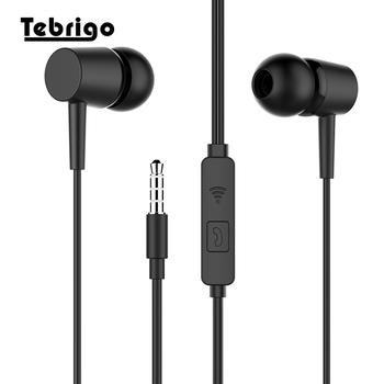 3.5mm Stereo Earphone with Microphone Earbuds In Ear Headset Bass Sound Music Earphone for Iphone Xiaomi Huawei Phones