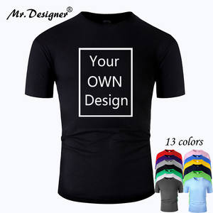 Ваш собственный дизайн фирменный логотип/изображение на заказ Мужская и женская хлопковая футболка DIY с коротким рукавом Повседневная футб...