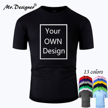 Your OWN Design Brand Logo/Picture Custom Men and women DIY Cotton T sh