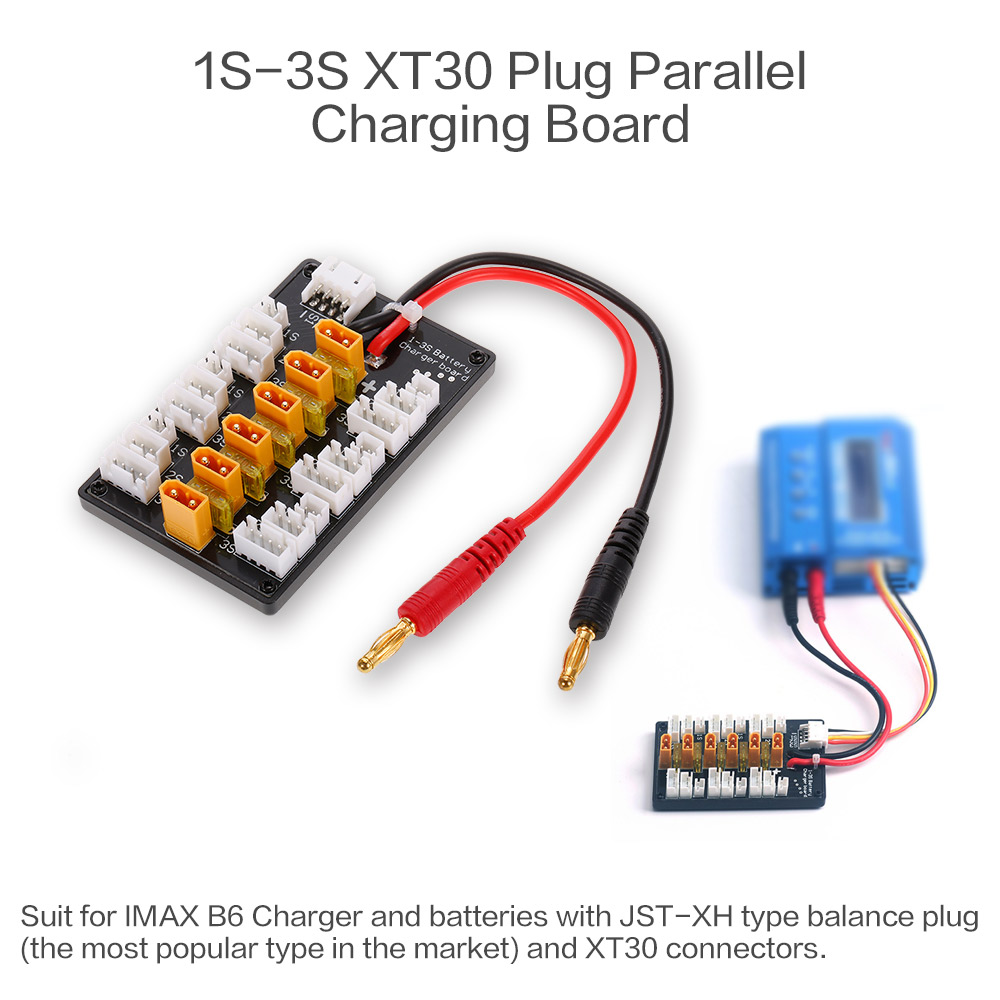 1 3s Xt30 Plug Lipo Battery Parallel Charging Board For Imax B6 Wiring Batteries Charger Boad