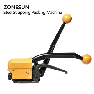 Image 4 - ZONESUN Portable A333 Buckle free Steel Strapping Tool Sealless Combination A333 Steel Strap Tool Manual Box Strapping Machine