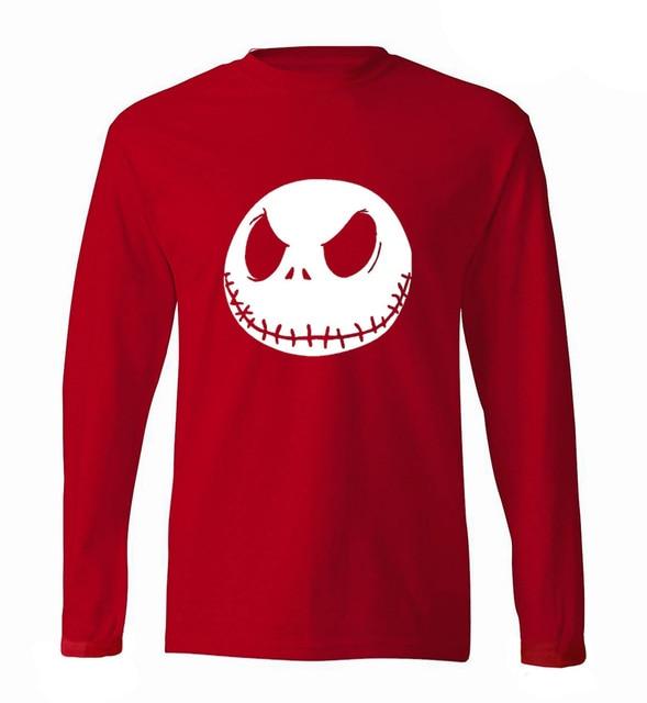 Hot Sale Nightmare Before Christmas Jack Skellington Men Long Sleeve ...