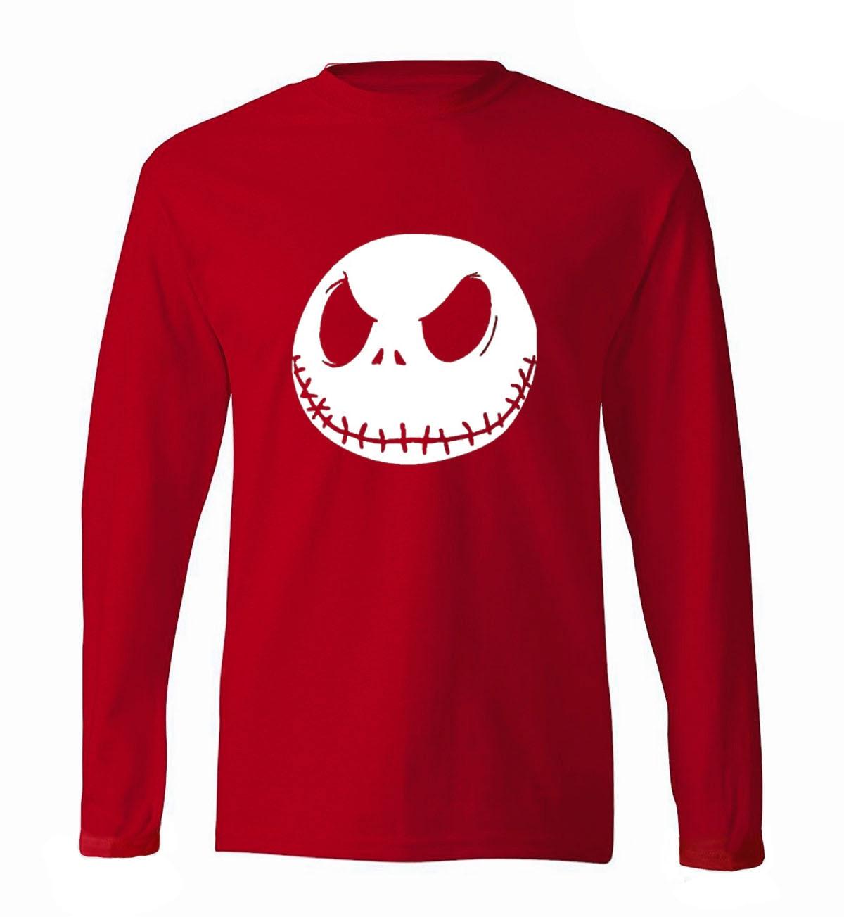Hot Sale Nightmare Before Christmas Jack Skellington Men Long Sleeve T Shirt 2019 new spring 100% cotton hipster man t-shirt