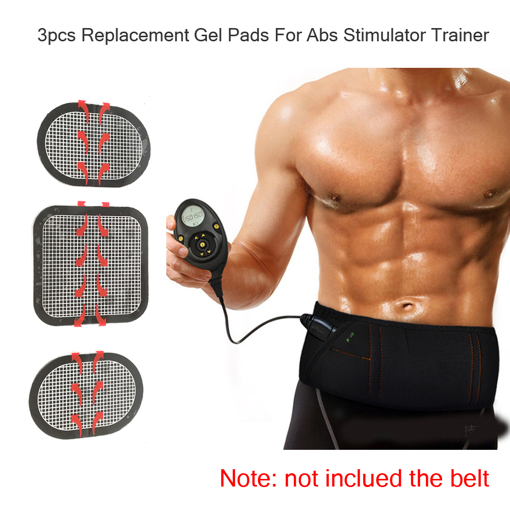 Massager Patch 3pcs Replacement Gel Pads For Abs Stimulator Trainer Muscles Training EMS Massage Waist Toning Belt Accessories