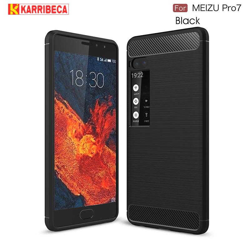 carbon fiber silicon case meizu pro 7 (14)