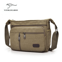Men S Durable Vintage Canvas Messenger Bags Shoulder Bags Handbags Leisure Work Travel Outing Business For