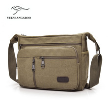 Men's Durable Vintage Canvas Messenger Bags Shoulder Bags handbags Leisure Work Travel Outing Business for 9.7 inch iPad