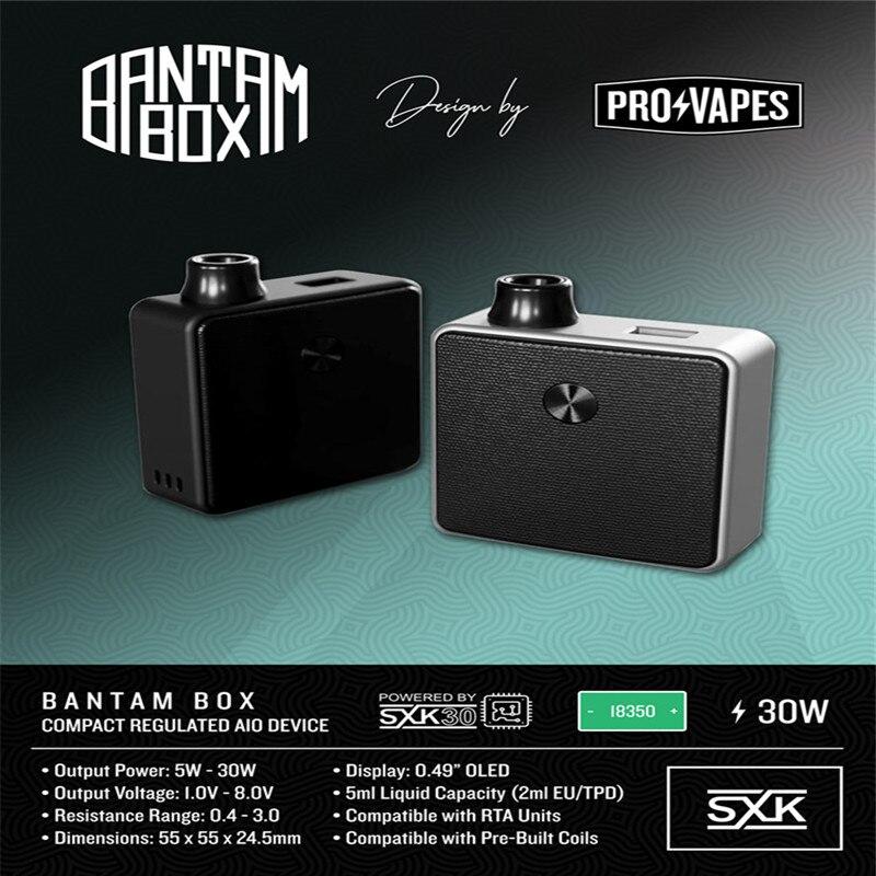 Новое поступление подлинный SXK дизайн Bantam мини бокс мод 2 мл/5 мл Емкость 30 Вт черный серебристый цвет 18350 BB мини мод vape испаритель - 5