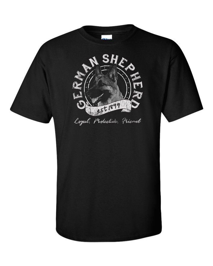 German Shepherd T Shirt Gift Pet Owners Dog Puppy Vintage Retro K9 Unit S-3XL Mens T-Shirt Summer O Neck Cotton