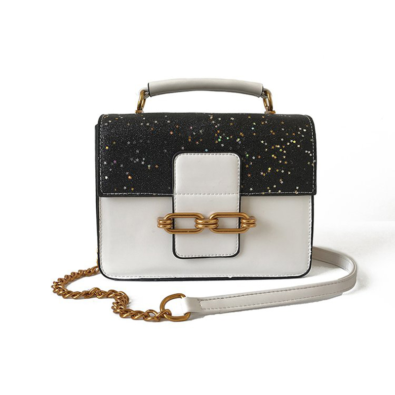 Women Sequined Crossbody Daily Shopping Handbags Leather Ladies Shoulder Bag Fashion Female Flap Chain Strap Phone Bag