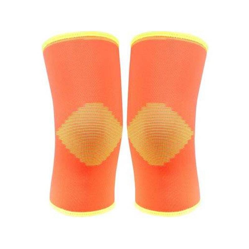 Prix pour 1 paire 5 couleurs nylon et spandex doux élastique à tricoter genouillères sport sécurité rotule garder au chaud protéger # BB101