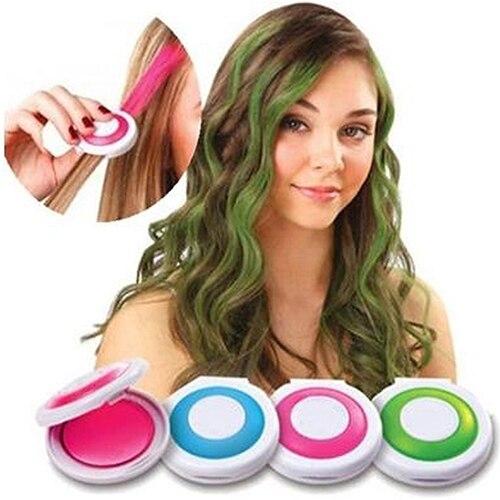 4 יחידות אופנה חג המולד DIY זמני לשטוף-לצבוע את שיער גיר עוגת אבק קוסמטי כלים