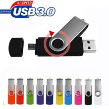 32 10 pcs livre logotipo Personalizado Pen drive gb usb OTG Unidade Flash USB 3.0 gb pendrive 64 8g 16 gb disco de U para smartphone PC presente de casamento(China)