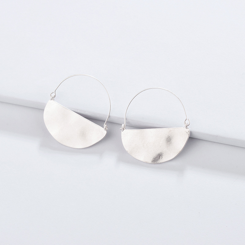 ZWPON 2018 Neue Große Gold Gehämmert Halbkreis Hoop Ohrringe für Frauen Aussage Ohrringe Schmuck Großhandel