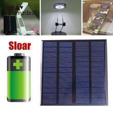amzdeal 3W 12V Polysilicon Solar Panel Portable Sunpower Solar Power Cell Charger Module Professional Outdoor Powerbank DIY Gift