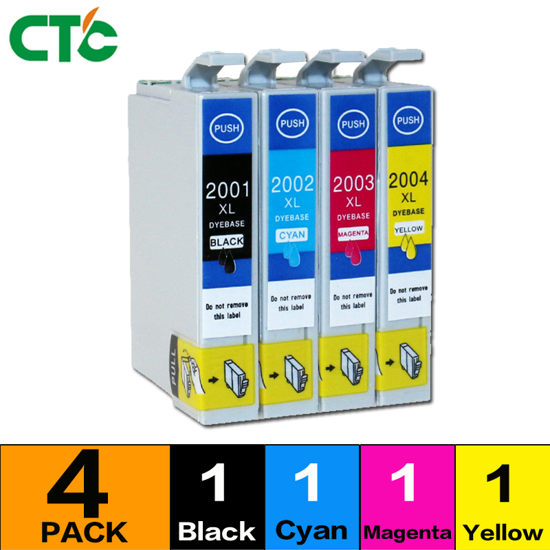 4pcs T200 Ink cartridge Compitalbe For Expression Home XP-100 XP-200 XP-300 XP-310 XP-314 XP-400 XP-410 Inkjet Cartridge