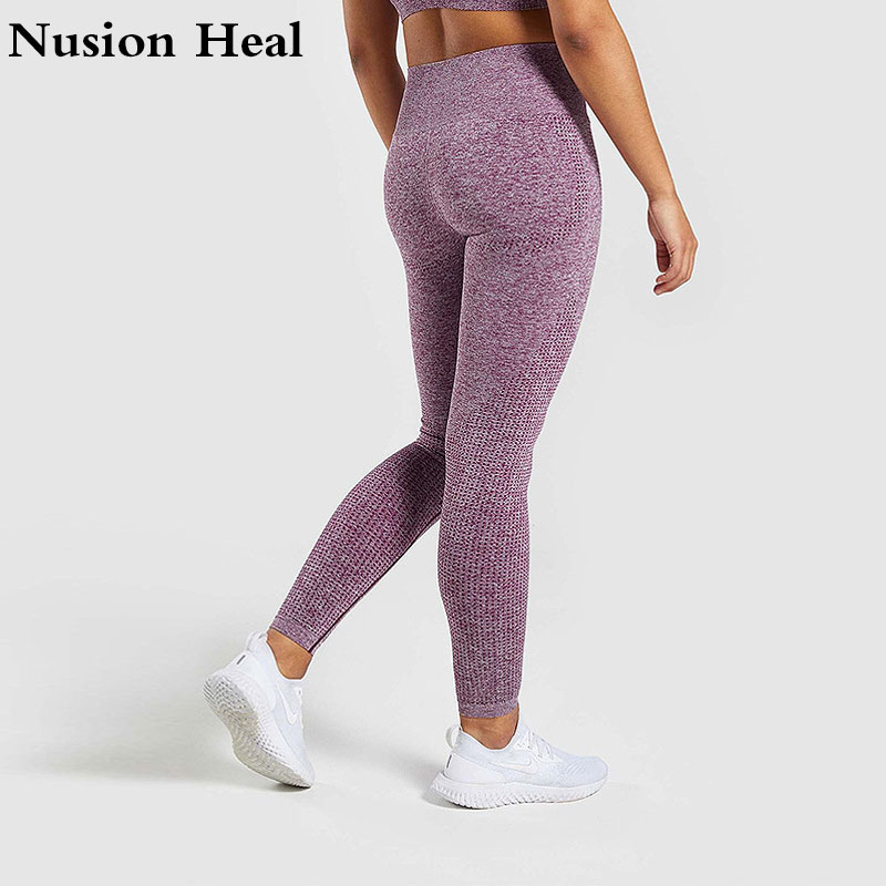 ac753527f6 2019 Women Sports Gym Yoga Pants Compression Tights OMBRE Seamless Pants  Stretchy High Waist Run Fitness Leggings Hip Push Up